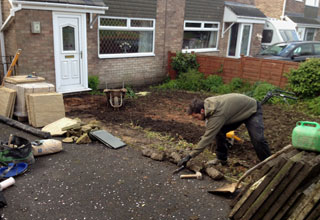 Paving and Turfing in Chapel en le frith