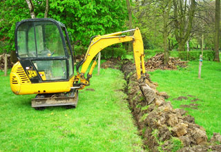 Drainage and Drain installation in the High Peak, Derbyshire