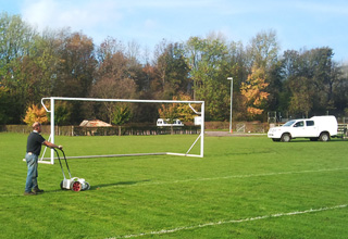 Landscaping sports pitches in Derbyshire