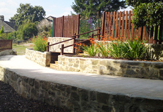 Restored terraced landscape in the High Peak wheelchair access